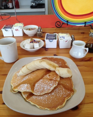 Blueberry Pancakes w. Banana